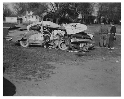 1956 Oldsmobile Automobile Accident Factory Photo ch8477