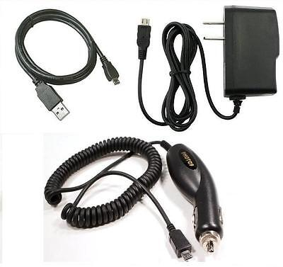 Car+Wall AC Charger+USB Cable for TMobile/Univision/MetroPCS ZTE ZMax Z Max Z970