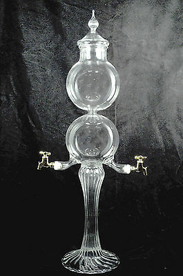 GLASS ABSINTHE DOUBLE GLOBE FOUNTAIN, 2 SPOUT w/ FREE SHIPPING !!!