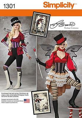 SIMPLICITY SEWING PATTERN Misses VICTORIAN COSTUMES CIRCUS SIZE 6 -22 1301