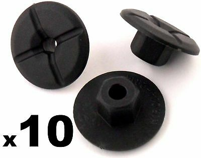 10x Plastic Unthreaded Nylon Nuts- 4mm hole & large 24mm collar, Mercedes & BMW