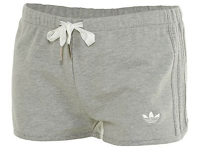 Adidas Slim Short Womens S19645 Grey French Terry Shorts Wmns Size XL