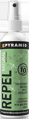 Pyramid Repel Natural Insect Repellent Effective for Mosquito, Midge, Sandfly