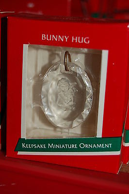 Hallmark 1989 Miniature Bunny Hug Acrylic MINI Ornament