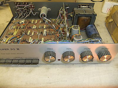 Hi fi Amplifier R S C super 30 III solid state ster spares not working 36x24x9cm