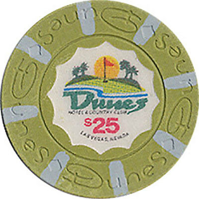 (1) Dunes $25 Casino Chip Las Vegas Nevada House Mold Free Shipping *