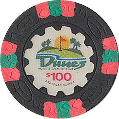 (1) Dunes $100 Casino Chip Las Vegas Nevada House Mold Free Shipping *