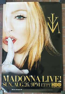 MADONNA Live! HUGE 27x40 HBO Promo Poster 2001 Drowned World Tour Unused NICE!