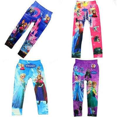 Popular Girls' Colorful Skinny Leggings Casual Kid's Stretchy Pants Trousers New
