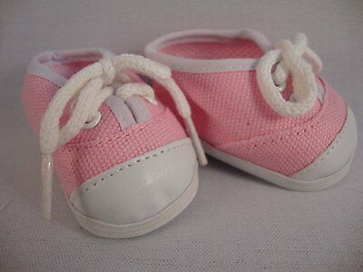 Pair of Pink Tennis Shoes for the 18 Inch Doll Made for the American Girl Doll
