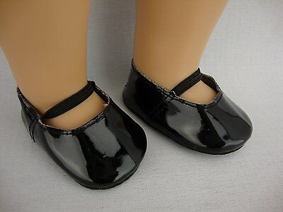 Cute Patent Black Dress Shoes for 18 Inch Doll Made for American Girl Doll
