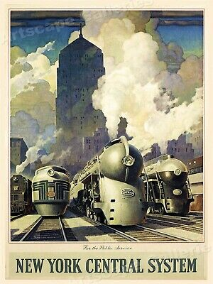 New York Central System 1940's Vintage Style Railroad Poster - 18x24
