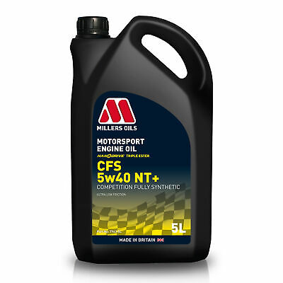 Millers Oils 5 Litres Of CFS NanoDrive NT Plus 5W40 Fully Synthetic Engine Oil