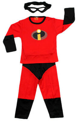 NEW Sz 2~8 COSTUME INCREDIBLES SUPERHEROES DRESS UP BIRTHDAY PARTY MASK BOY KIDS