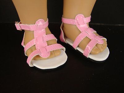 Pink Strappy Sandals for the 18 Inch Doll Made for the American Girl Doll