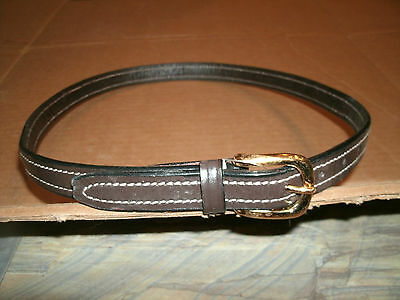 """Ladies 28"""" Brown raised/stitched Leather English Riding/show Belt"""