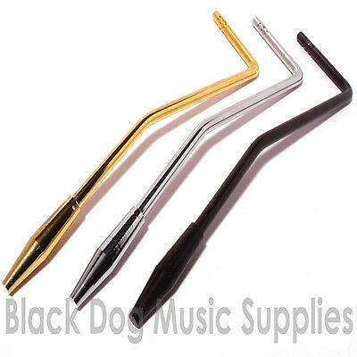 Tremolo arm 5mm push fit with steel tip in chrome, Black or Gold finish