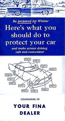 Old MOTOR VEHICLE winter car service booklet FIRESTONE FINA etc