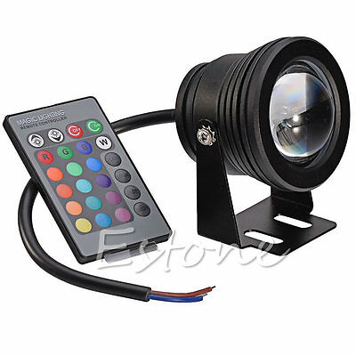 Fashion RGB Underwater Light Fountain Pond Outdoor 12V Spotlight IP68 10W LED