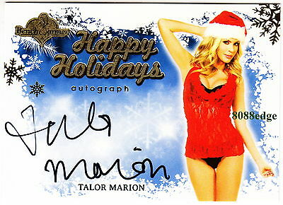 2013 Benchwarmer Holiday Auto: Talor Marion - Autograph Blue Background