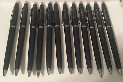 NEW LOT of 12 HYATT TWIST PEN BLACK INK BALLPOINT