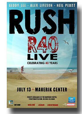 Rush Flyer - Concert Poster R40 Tour Geddy Lee Neil Peart