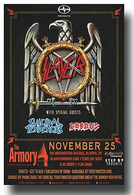Slayer Flyer - Concert Poster W/ Exodus and Suicidal Tendencies