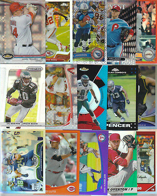 Huge Refractor Baseball Football Premium Sports Card Collection Lot *loaded*
