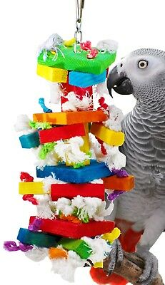 826 BLOCK TOWER BIRD TOY parrot cage toys cages african grey conures amazon