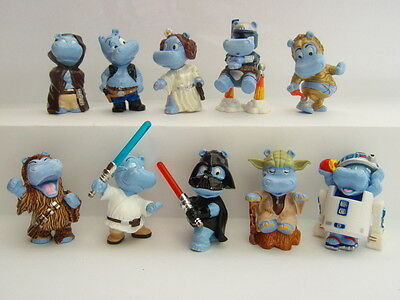 Complete collectible figures set STAR WARS HIPPOS 2002 from Kinder Surprise eggs