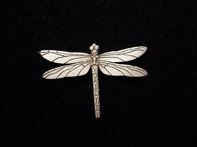 """""""JJ"""" Jonette Jewelry Silver Pewter 'Detailed Dragonfly' Tac Pin"""