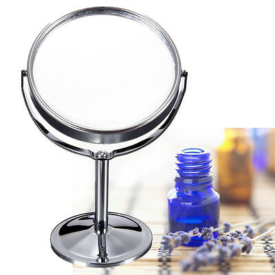 Desk Stand  Beauty Cosmetic Makeup Mirror Double-Sided Normal and Magnifying