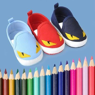Easy wear Infant Toddler Baby Boy Girl Soft Sole Pram Shoes Newborn 0-18 Months