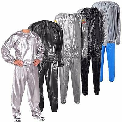 SWEAT SAUNA SUIT EXERCISE GYM SUIT FITNESS WEIGHT LOSS ANTI-RIP Sport Home 5Size