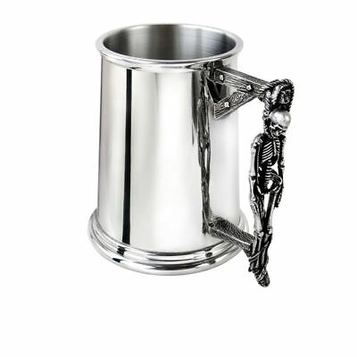 Alchemy Gothic Turpins Gallows Skeleton Traditional Polished Pewter Pint Tankard