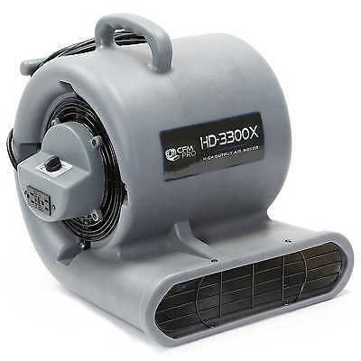 Carpet Dryer Air Mover Blower Floor Drying Industrial Fan w/ outlets - 1/3 hp