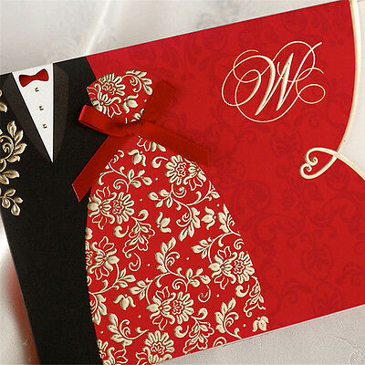 30 Wedding invitation cards with envelopes, seals, custom personalized printing