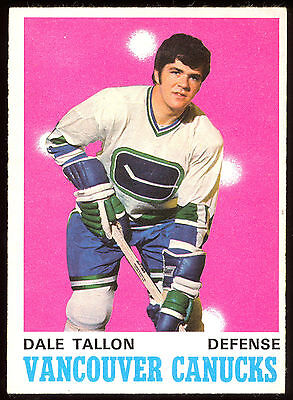 1970 71 Opc O Pee Chee #225 Dale Tallon Ex-Nm Rc Vancouver Canucks Hockey Rookie