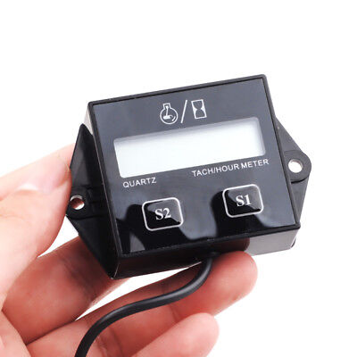 New Hour Meter Inductive Tachometer Small Engine Spark for Motorcycle Bike ATV