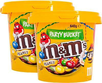 2 x M&M's Party Bucket Peanut 640g