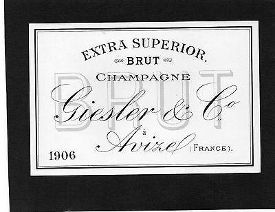 Vieille Lithographie Champagne Giesler & Co 1906 Rare §11/08§