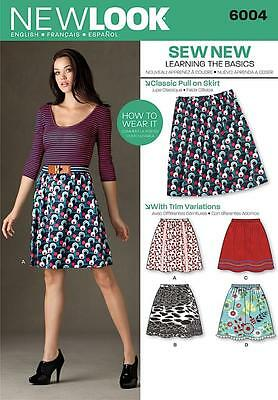 NEW LOOK SEWING PATTERN Misses' LEARNING THE BASICS SKIRT  SIZE 4 - 16 6004