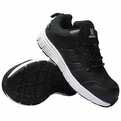 Mens New  Ultra Lightweight Steel Toe Cap Safety Trainer Shoes Work Size 9
