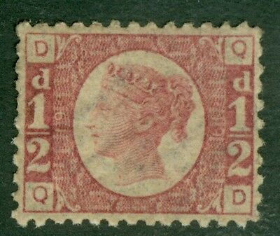 SG 48 ½d rose red plate 19. Unmounted mint. Excellent colour & centring CAT £300
