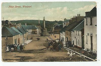 irish postcard ireland mayo peter street  westport