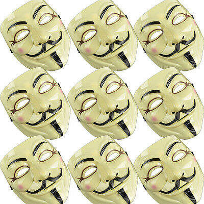 10pcs New V For Vendetta Mask Guy Fawkes Anonymous Masks Party Cosplay