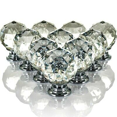 Livivo 10 Drawer Door Knob Diamond Crystal Cupboard Wardrobe Furniture Handle
