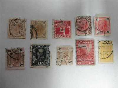 Collection of 10 Early 20th Century Austria Postage Stamps - Make an Offer