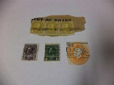 Lot of 6 Vintage Canadian Official Postage Stamps Early 1900s Make an Offer