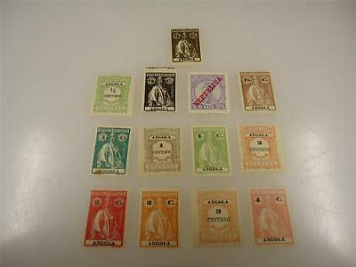 Lot of 13 Assorted Vintage Angola 1911-1921 Stamps Unused - Make Offer